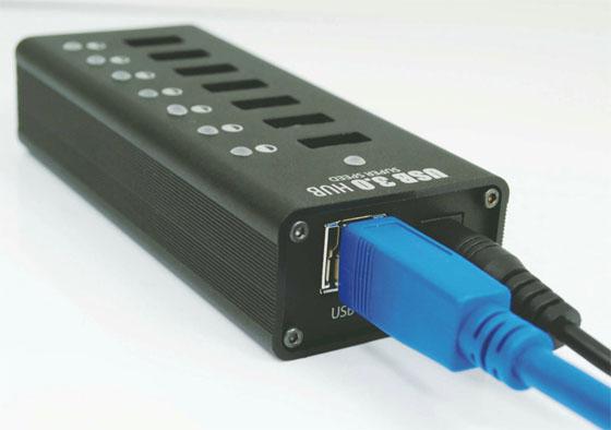 【MR3C】含稅 附變壓器 BROWAY BW-U3037C 7埠 USB3.0集線器(全鋁合金外殼)